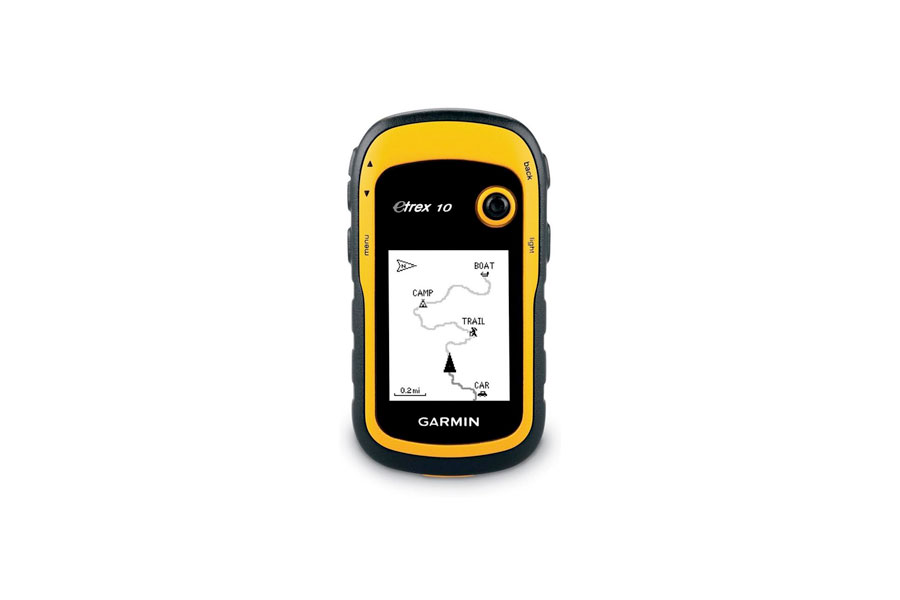 A yellow and black Garmin Device