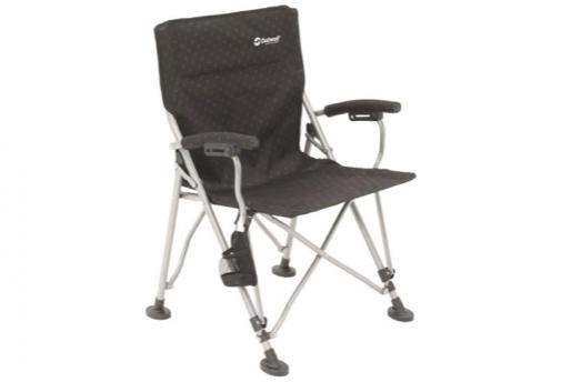 A black camping chair