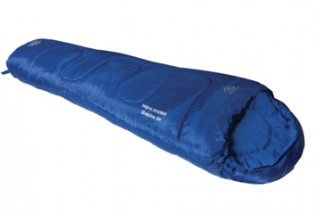 A blue kids sleeping bag