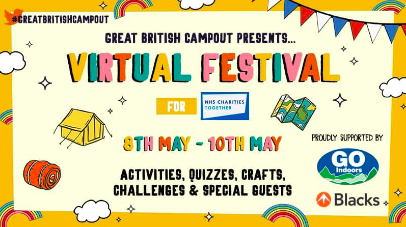 An image of a poster, advertising the Great British Campout Festival.