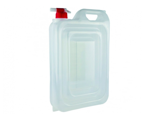 A 12L water carrier with a red lid