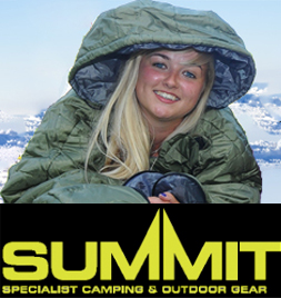Super warm green Summit Motion Sac Sleeping Bag Suit