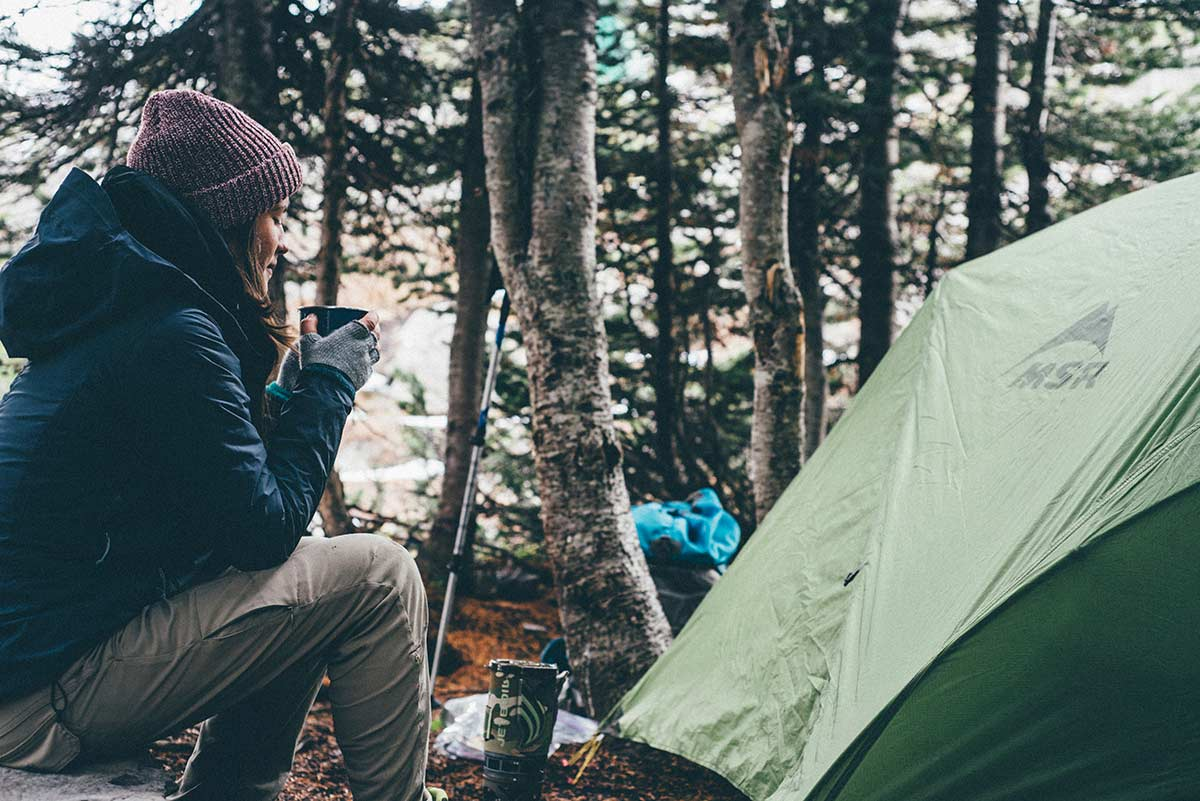 Which tent is best during the colder weather