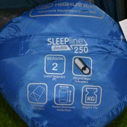 Sleepline 250 Stuff Sac with specifications