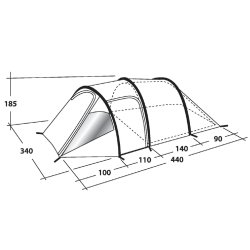 Outwell Earth 5 award winning family tent