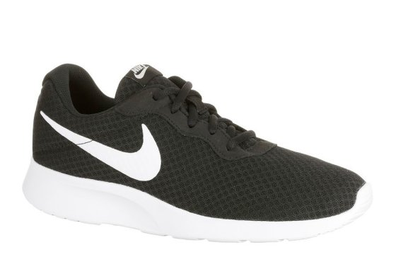 Mens Nike Tanjun Black and White Walking Shoe