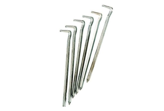 Galavanised Steel Tent Pegs x 6