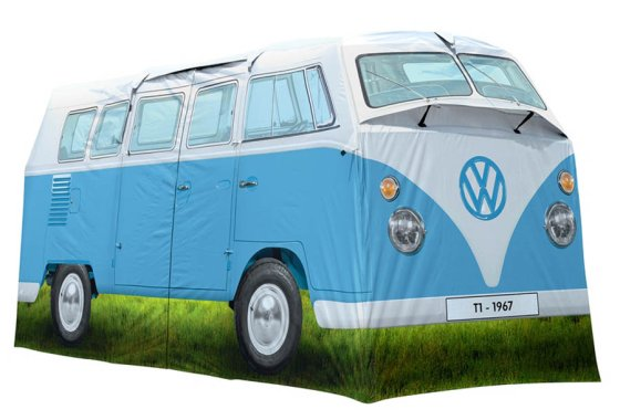Vw Camper Van >> Vw Campervan Tent Replica Camper Van Shaped Tent