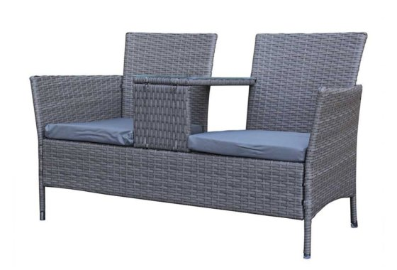 Chatsworth Love Seat in Grey