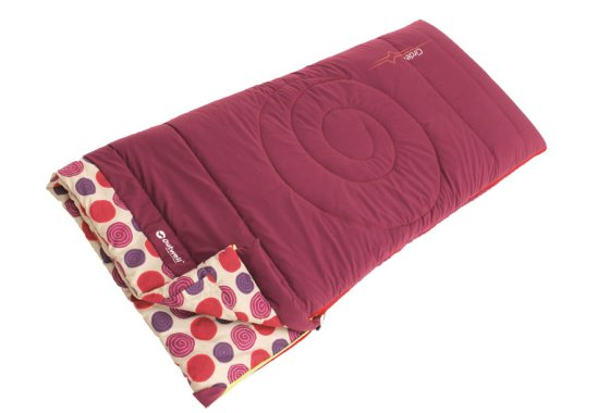 Outwell Kids Circles Sleeping Bag - Berry colour