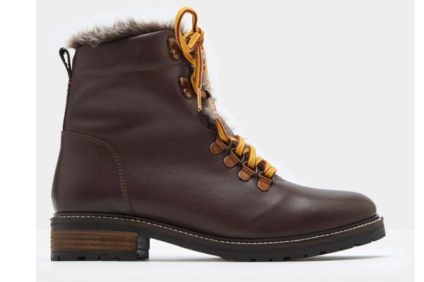 Fur lined Ashwood Hiker Boots from Joules