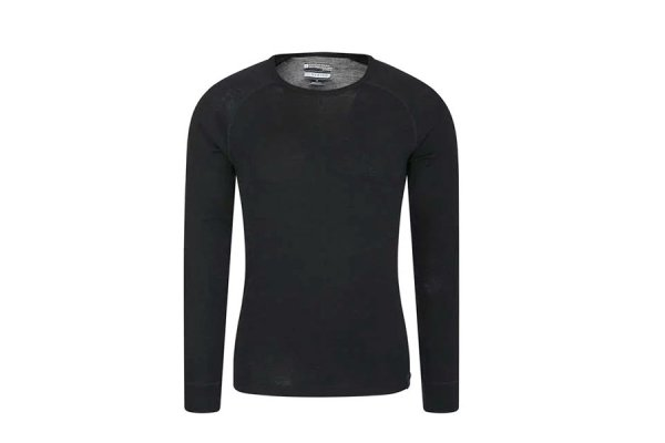 Mountain Warehouse Mens Merino Long Sleeved/Round Neck Top