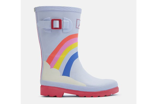 Joules Rainbow Printed Kids Wellies Boots