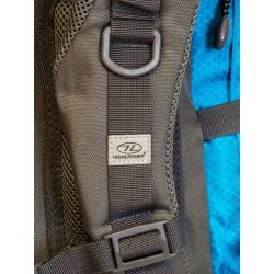 Teal/Grey Discovery 45L Rucksack by Highlander adjustable straps and loops