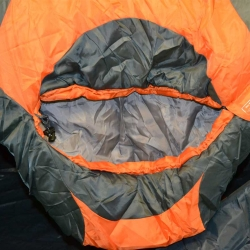 Highlander Serenity 450 Sleeping Bag hood feature with shoulder baffle