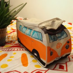 Orange VW Camper Van Wash Bag
