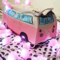 Pink VW Camper Van Wash Bag