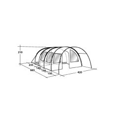 Outwell Amarillo 6 Man Tent Dimensions