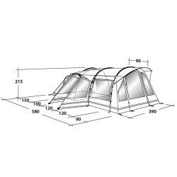 Montana 6E Tent dimensions  sc 1 st  Planet C&ing & Award Winning Outwell Montana 6E 6 Man Family Tent