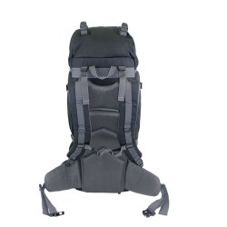 Rear view Black Yellowstone 65L Rucksack