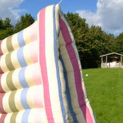 Airing the Roll Up Bed in the sunshine