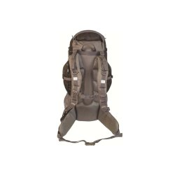 Rear view - Black/Grey Discovery 45L Rucksack by Highlander