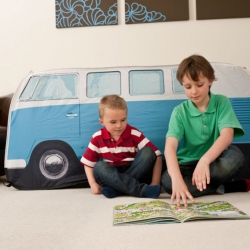 Kids Blue VW Camper Van Play Tent