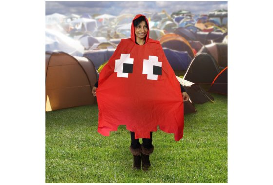 Red Retro Poncho