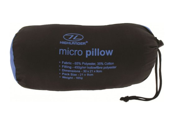 Blue Micro Pillow by Highlander