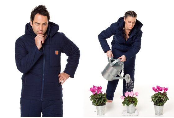 Navy Blue Duvet Suit