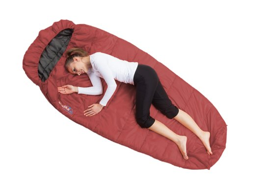 Skandika Vegas Red Sleeping Bag - Left Zip