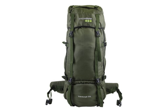 Yellowstone Edinburgh 65L Rucksack Olive - front view