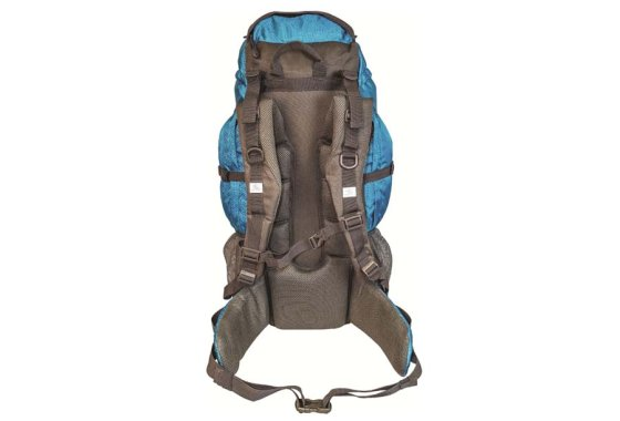 Highlander Teal/Grey Discovery 45 Rucksack - Rear view