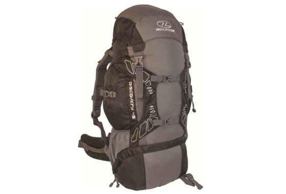 Highlander Discovery 45 Rucksack - Black/Grey