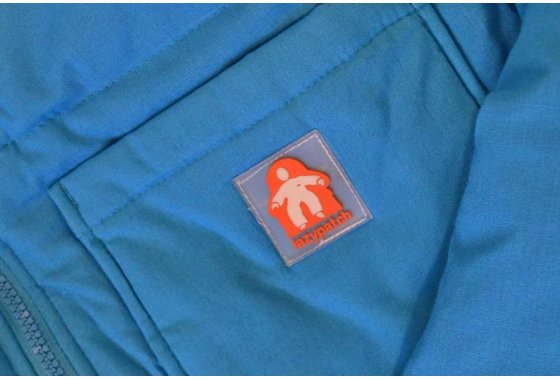 Cosmos Blue Duvet Suit Front Pocket Detail