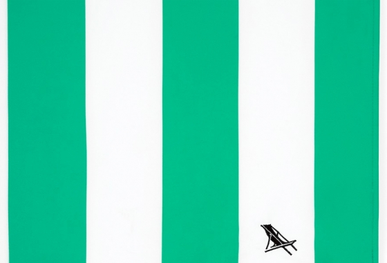 Green & White Stripe Dock and Bay Towel