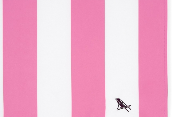 Pink & White Stripe Dock and Bay Towel