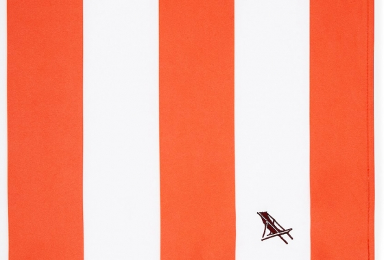 Red & White Stripe Dock and Bay Towel