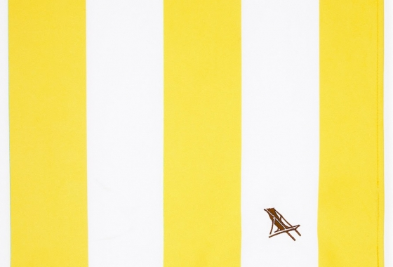 Yellow & White Stripe Dock and Bay Towel
