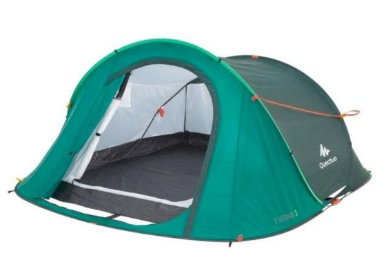 Quechua 2 Second Pop Up Tent - 3 Man