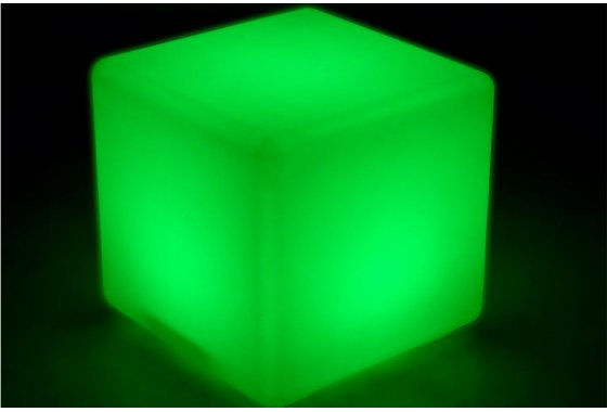 Green Outdoor LED Cube Light