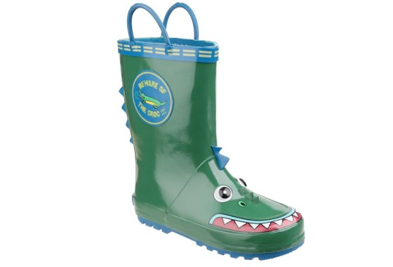 Kids Cotswold Puddle Wellies - Frog design