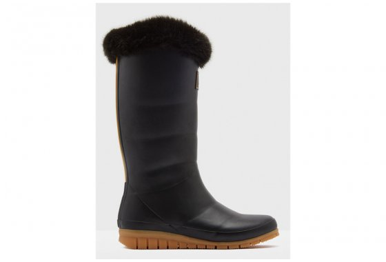 Joules Downton Tall Wellies with fur trim