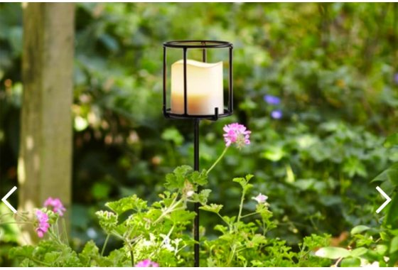 Navarre Battery Candle Stake Lantern