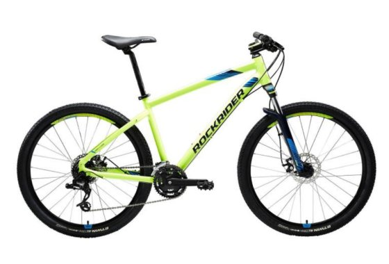 Yellow Rockrider Mountain Bike
