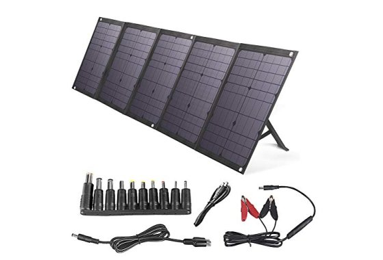 BigBlue 100W Foldable Solar Panel Charger Compatible with Po