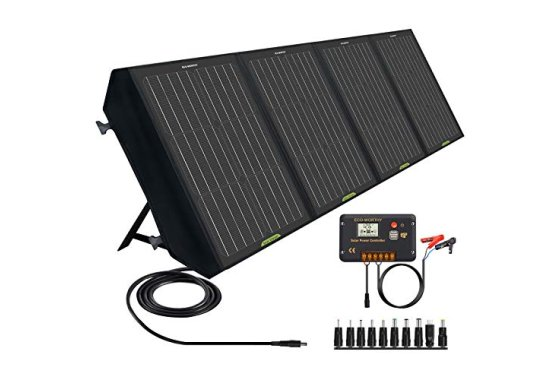 ECO-WORTHY 120W Foldable Solar Panel Charger for Portable Po