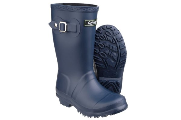 Kids Cotswold Buckingham Wellies - Navy