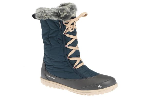 Quechua SH500 x-warm blue snow boots with laces