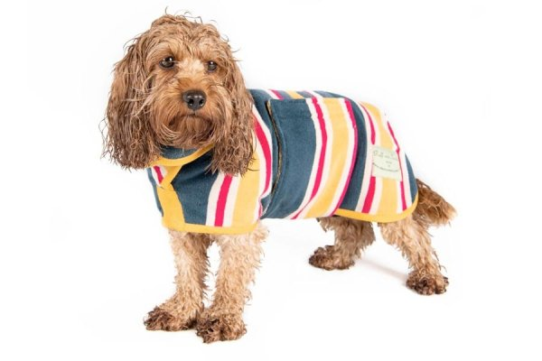 Ruff and Tumble Dog Drying Coat - Beach design